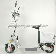 2013 Newest 1000W 48V aluminum /Wooden deck Electric scooter with basket(XW-E05F)