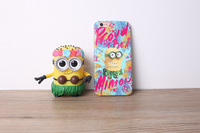 privat mould minions silicone phone case for samsung