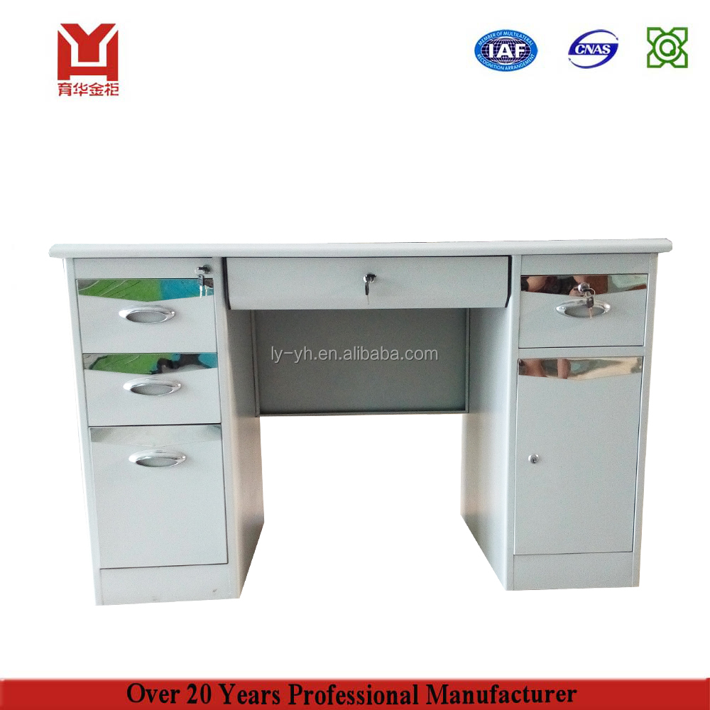 Color Optional Modern Latest Design Office Furniture Photos Ceo Computer Table With Under The Desk Keyboard Drawer