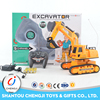 Newest plastic 4 channel mini monster rc hydraulic excavator