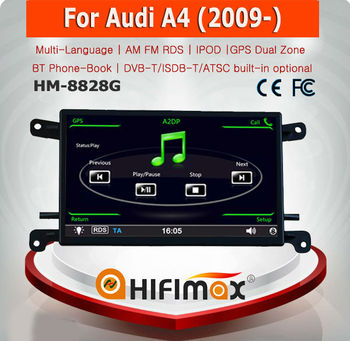 HIFIMAX 6.5 inch Car DVD Navigation GPS For Audi A4 2009 Bluetooth Phone-Book RDS iPod HD 1080P