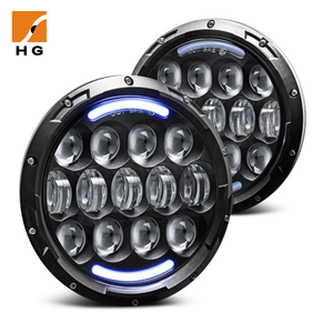 CE RoHs IP67 7 inch led universal motorcycle headlamp 6000k auto headlight lamp daymaker 7 led headlight for harley davidson