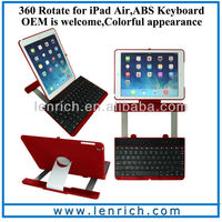 LBK163 Aluminum 360 Swivel Rotating Stand Case Cover Bluetooth Keyboard For iPad Air