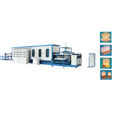 full automatic food container/box/plate making machine with robot hand