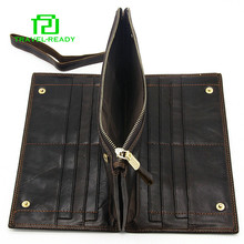 man new designer genuine leather cell phone wallet