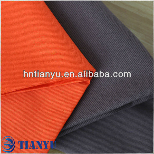 cotton workwear fabric made in Xinxiang solid dyed or printed with customized manufacturer