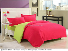 Hot sale 200 tc Pure white/red 100% cotton Plain hotel bed set /bed linen/ hotel crochet bed sheet