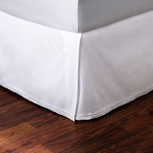 cotton white hotel pleated bed skirt