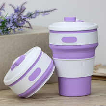 2017 new design customized logo coffee cup,silicone coffee cups with lids 12 oz,silicone plastic travel cup