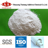 Small electronegativity man-made hydrocalumite compound for PVC pipe