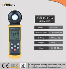 Digital Light Intensity Meter Lux & Foot Candle 200000 Lux Max Min Hold CR1010C