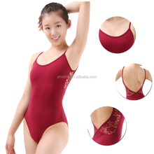 Wholesale Adult Gymnastics Custom Made Dance Costumes Girls Crisscross Lace Back Camisole Leotards