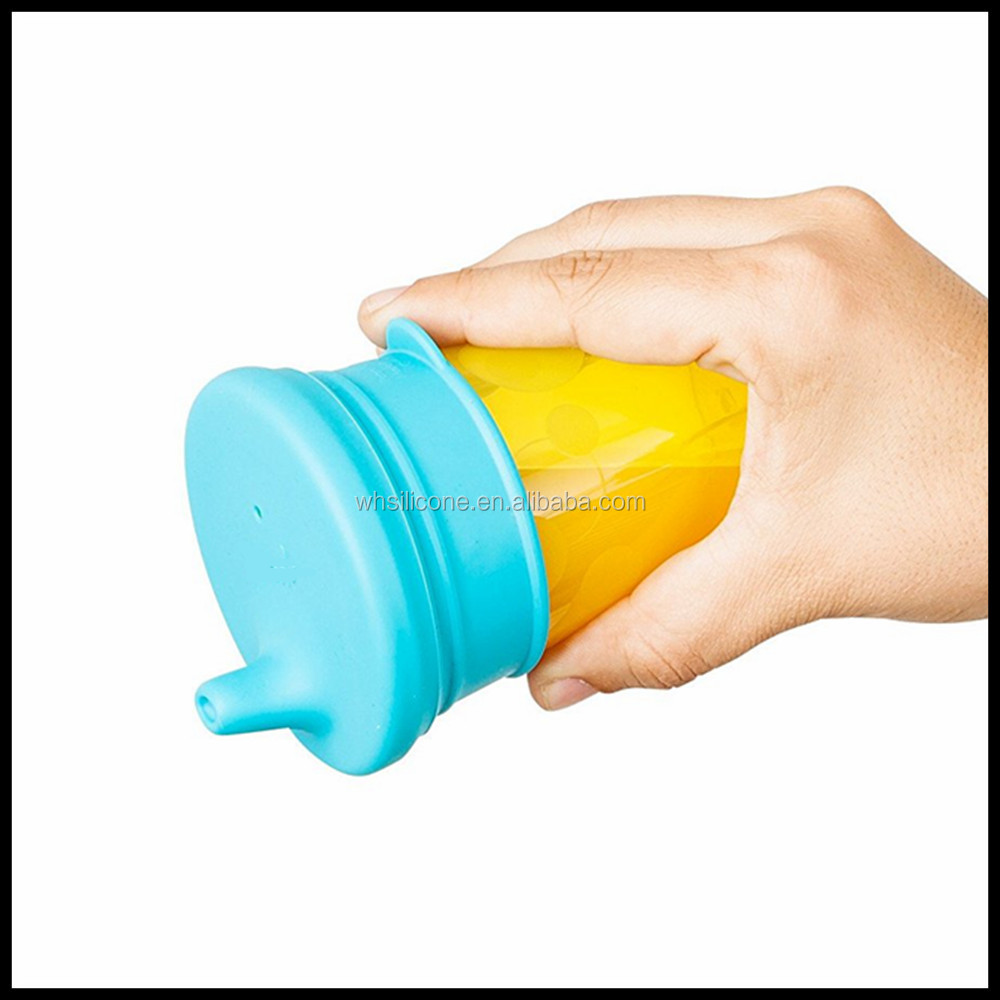 Free samples non spill silicone sippy cup lid for bottles