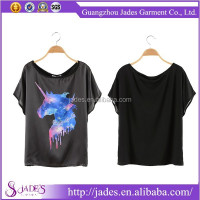 2015 Most popular fancy women's clothing manufacturer printed t-shirts