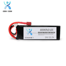 High C-rate 4000mah 22.2V 60C 6S lipo battery for rc helicopter rc hobby