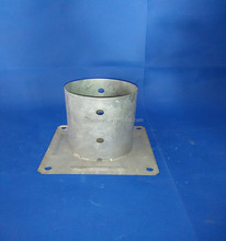 galvanized round post anchor