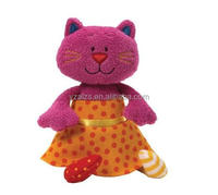 Lovely Plush Doll Toy Red Cat Animal