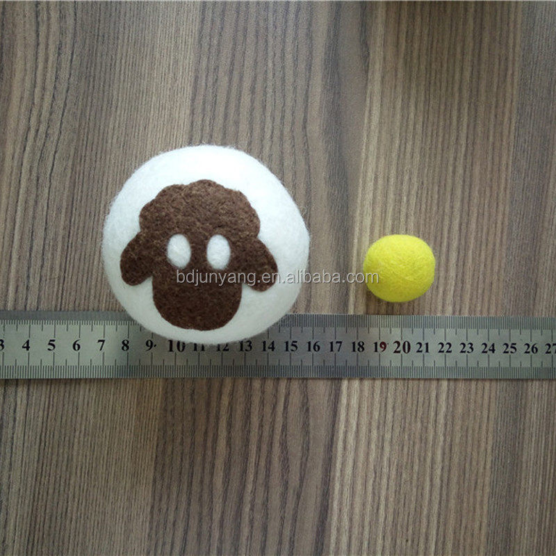 new zealand laundry ball dyed color grey brown felt washing ball natural wool dryer balls