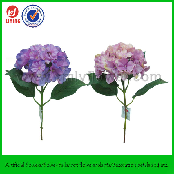 46CM Artificial Hydrangea Purple,Purple Silk Violet Flowers