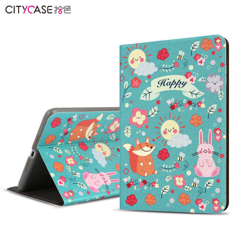 city&case New Arrival Printing Design Rotating Stand PU Leather Case for iPad Air