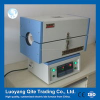 Mini lab two level glass tube horizontal electric furnace for Inorganic compound power sintering