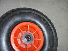 small pneumatic rubber wheels 10x300-4 for trailer/ hand trolley
