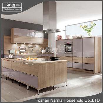 modern style simple design furniture whole pvc kitchen cabinet set