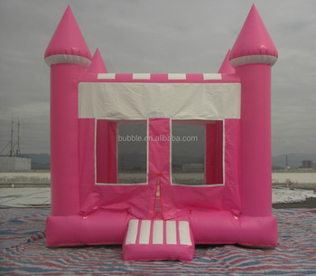Pink inflatable castle, durable mini castle for rental