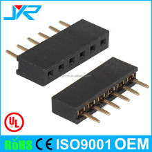 2.0x4.3mm molex 6 pin straight female socket header connector with optional cap