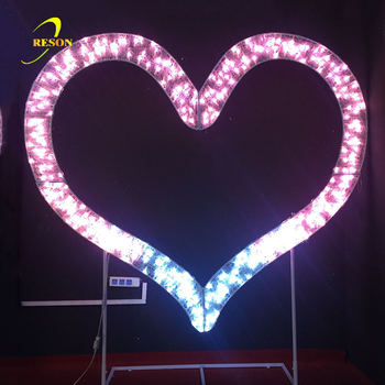 Events Heart Shape Lighting For Wedding Decoration