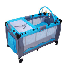Portable Child Baby Travel Cot Bed Playpen Play Pen With Toys