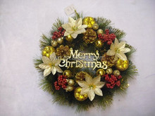 christmas wreaths 10 inch gold flower christmas wreath with reindeer