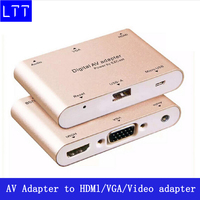 1080P Digital AV Multiport Adapter Phone to HDMl/VGA/Video adapter