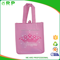 ISO/BSCI Lowest price luxury foldable reusable nonwoven pink shopping bag