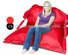 buggle up bean bag outdoor chair in solid red, big pillow relax cushion furniture