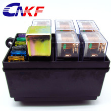 CNKF Car seat fuse box 5 engine compartment insurance holder include 5 relay 80A 1relay