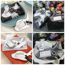 Newest Unique Wedding Favors and Gifts of Airplane Luggage Tag in Black and White gift boxed Top quality with Free Shipping