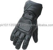 Black Motorbike Racing Sports Gloves