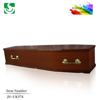 china funeral supplies flat packed coffin