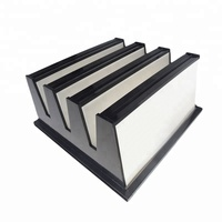585X277X292mm HVAC V-Bank HEPA Filter