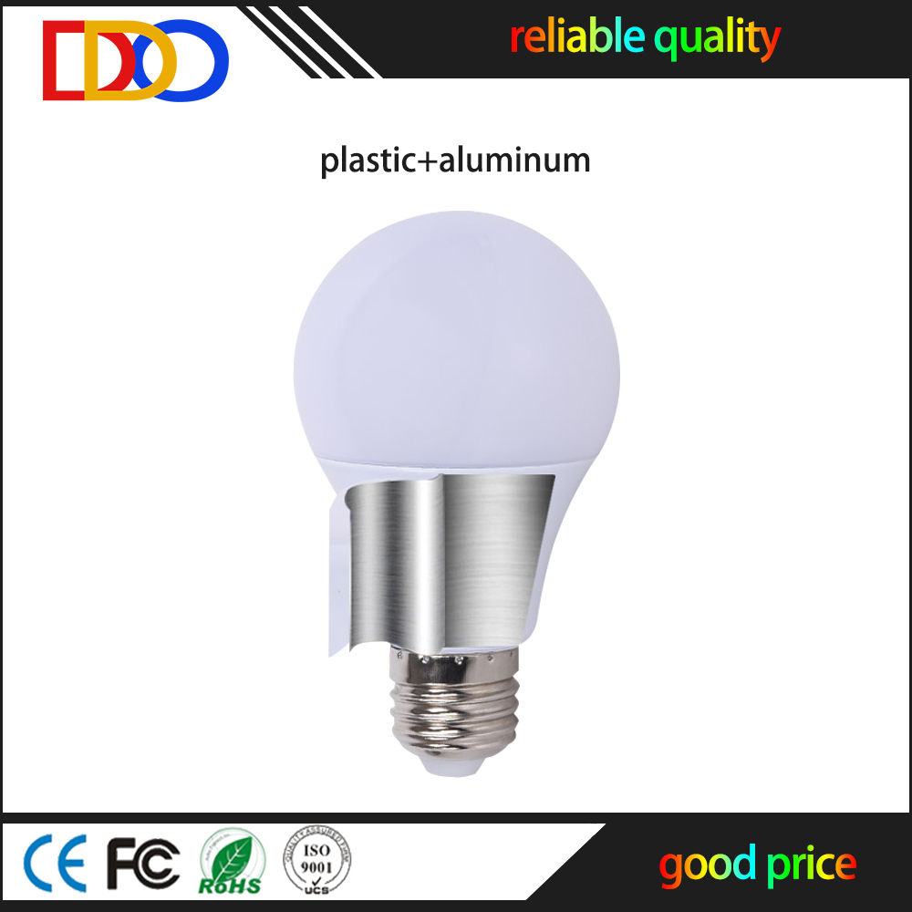 high quality aluminum plastic e27 led bulb 5w with factory good price