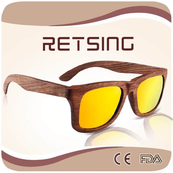 Wooden Bamboo Sunglasses for 2016 Hot Sale Wood Shades Wooden Glasses China
