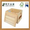 Handmade natural pine unfinished large wooden wine bottle box wooden wine baskets wooden wine case