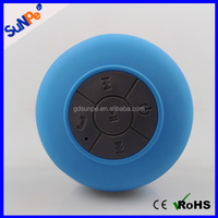 Portable music player mini wireless waterproof bluetooth stereo shower speaker with micophone with suction cup