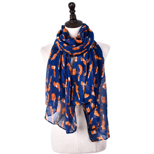 High quality custom colorful prints women fashion scarf
