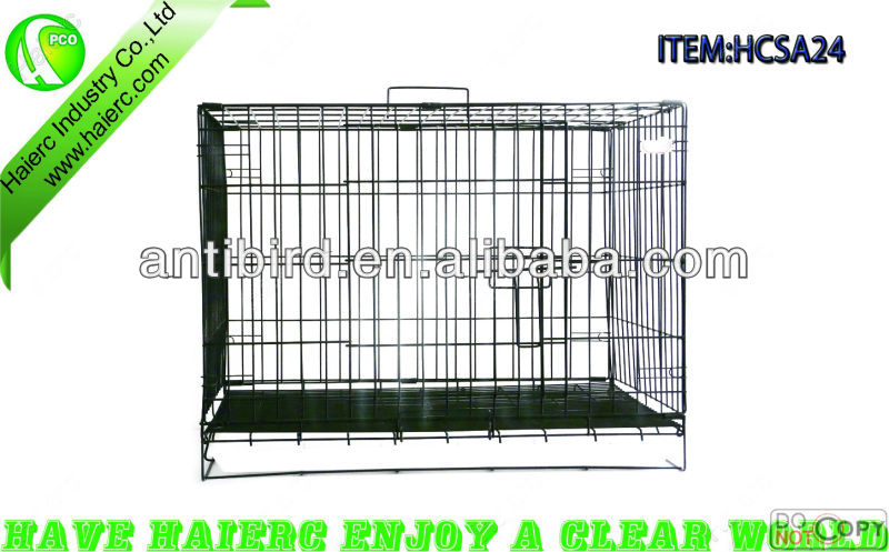 6 Sizes High Quality Metal Foldable Dog cage,Dog Kennel, Dog House SA24 with ABS Tray