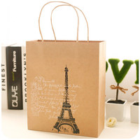 Excellent personalized paper bag gift bags wholesale small paper bags with handles