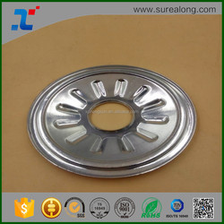 OEM stainless steel Alumimium stamping round plate / sheet metal stamping round parts