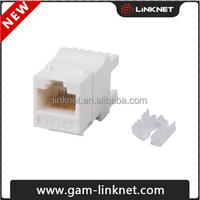 Cat6 Keystone jack with 180 degree wire punching