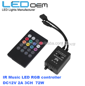 IR music rgb led controller